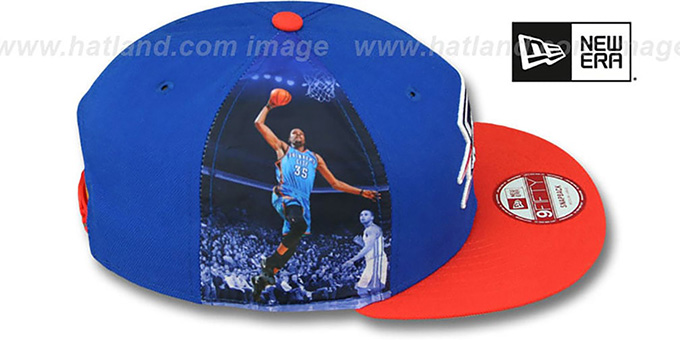 Thunder DURANT 'PLAYER-TWIST SNAPBACK' Royal-Orange Hat by New Era