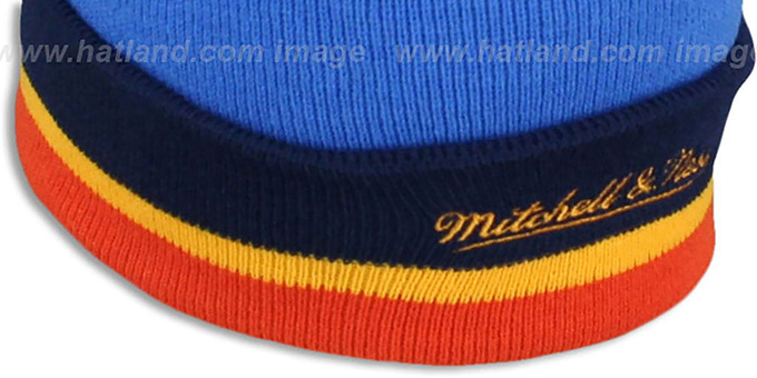 Thunder 'XL-LOGO BEANIE' Blue by Mitchell and Ness