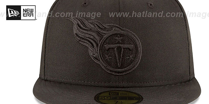 Titans 'NFL TEAM-BASIC BLACKOUT' Fitted Hat by New Era