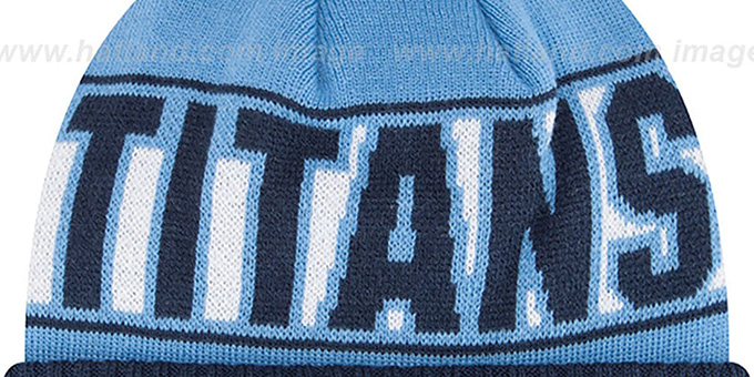 Titans 'REP-UR-TEAM' Knit Beanie Hat by New Era