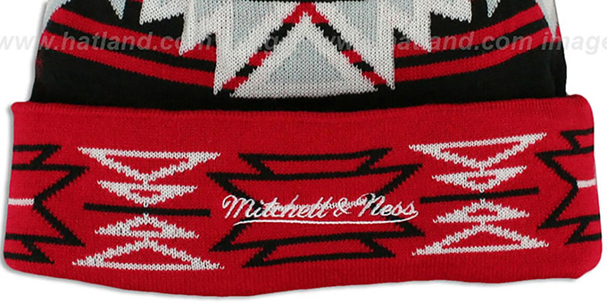 Trailblazers 'GEOTECH' Knit Beanie by Mitchell and Ness