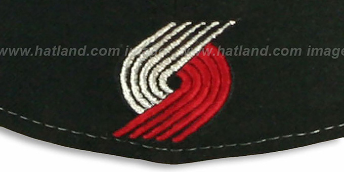 Trailblazers 'HERO-HCL' Black-Red Fitted Hat by New Era
