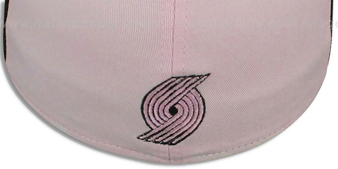 Trailblazers 'PINWHEEL' Light Pink-Black Fitted Hat by New Era