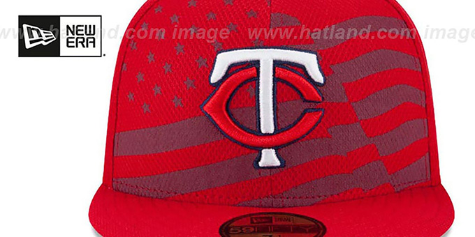 Twins '2015 JULY 4TH STARS N STRIPES' Hat by New Era