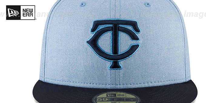 Twins '2018 FATHERS DAY' Sky-Navy Fitted Hat by New Era