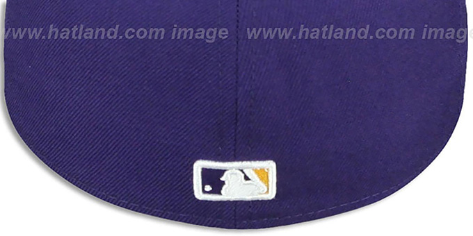 Twins '2T OPPOSITE-TEAM' Purple-Gold Fitted Hat by New Era