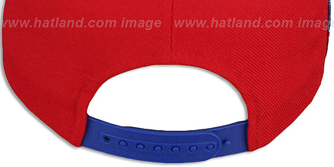 USA '2T SUPER-ARCH SNAPBACK' Red-Royal Adjustable Hat by Zephyr