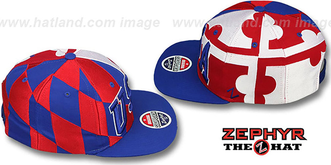 USA 'MARYLAND SUPER-FLAG ARCH SNAPBACK' Royal Hat by Zephyr