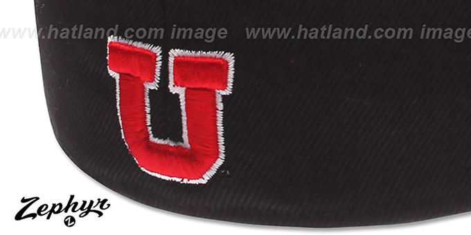 Utah 'DHS' Black Fitted Hat by Zephyr