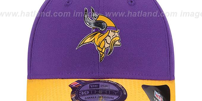 Minnesota Vikings 2015 NFL DRAFT FLEX Hat by New Era abbc15be8