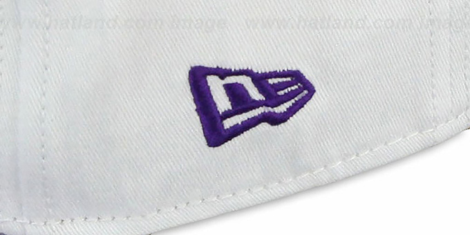 Vikings 'BIGSIDE A-FRAME SNAPBACK' White-Purple Hat by New Era