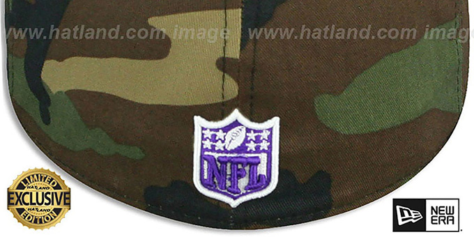 Vikings 'NFL TEAM-BASIC' Army Camo Fitted Hat by New Era