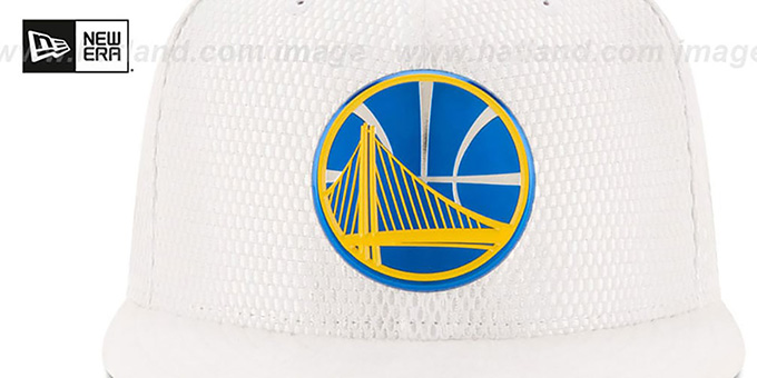 Warriors '2017 ONCOURT DRAFT' White Fitted Hat by New Era