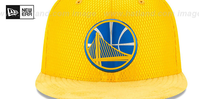 Warriors '2017 ONCOURT' Gold Fitted Hat by New Era