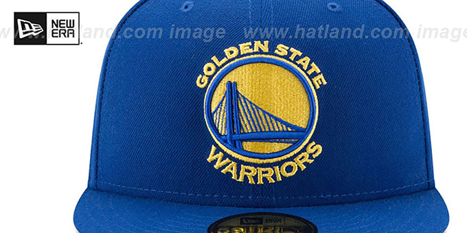 Warriors '2018 FINALS CHAMPIONS' Royal Fitted Hat by New Era