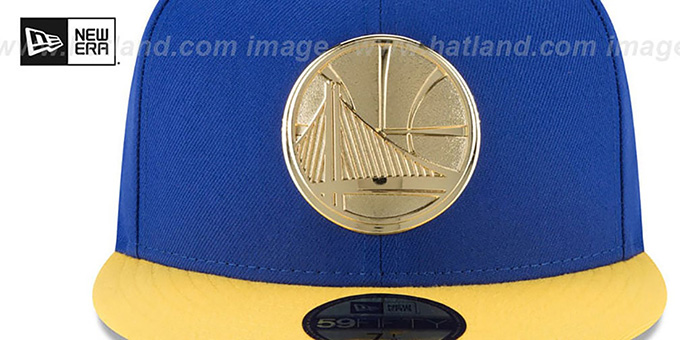 Warriors 'GOLDEN-BADGE' Royal-Gold Fitted Hat by New Era