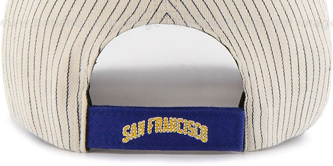 Warriors 'HOME-RUN PINSTRIPE STRAPBACK' Hat by Twins 47 Brand