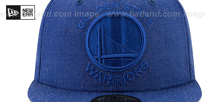 Warriors 'JUMBO HEATHER' Royal Fitted Hat by New Era