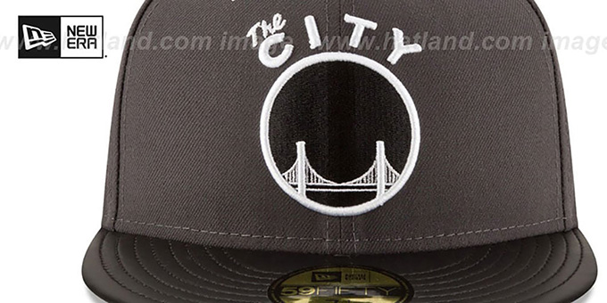 Warriors 'METAL HOOK' Grey-Black Fitted Hat by New Era