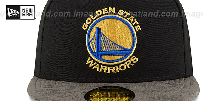 Warriors 'RUSTIC-VIZE' Black-Grey Fitted Hat by New Era