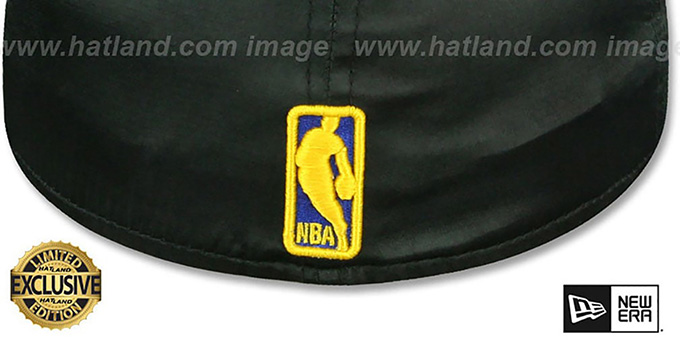 Warriors 'SATIN BASIC' Black Fitted Hat by New Era