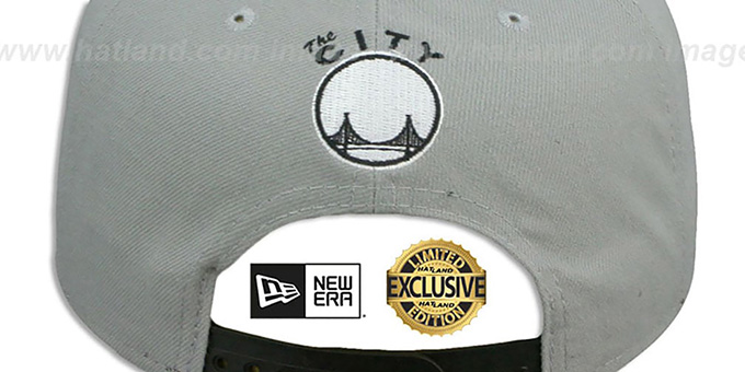 Warriors 'TEAM-BASIC SNAPBACK' Grey-Black Hat by New Era