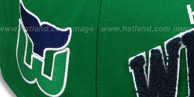 Whalers 'CHENILLE-ARCH SNAPBACK' Green-Navy Hat by New Era