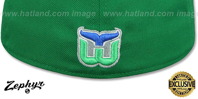 Whalers 'VINTAGE SHOOTOUT' Green Fitted Hat by Zephyr