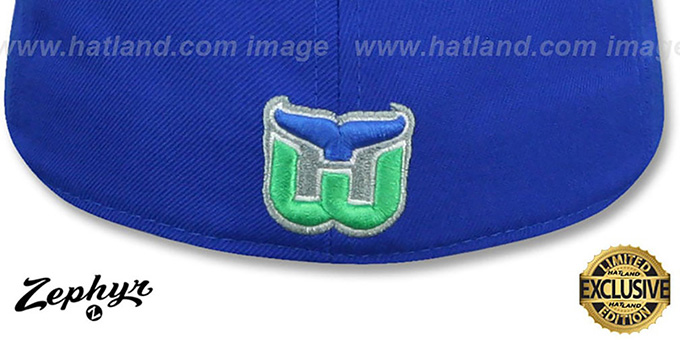 Whalers 'VINTAGE SHOOTOUT' Royal Fitted Hat by Zephyr