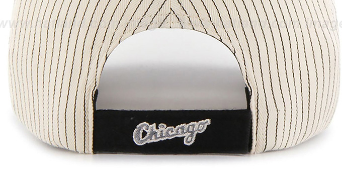 White Sox 'HOME-RUN PINSTRIPE STRAPBACK' Hat by Twins 47 Brand