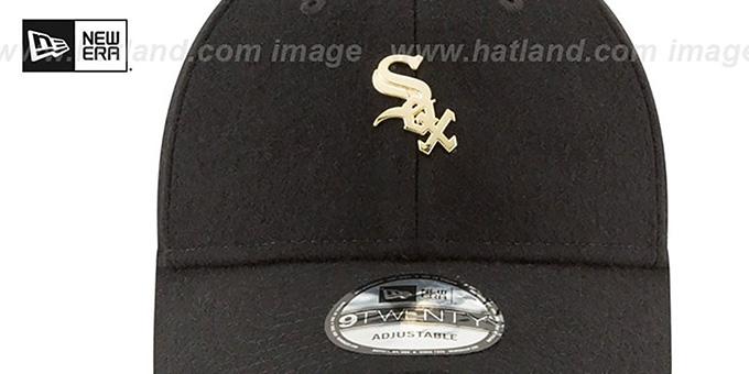 pretty nice a8270 6da3b ... White Sox  MINI GOLD METAL-BADGE STRAPBACK  Black Hat by New Era ...