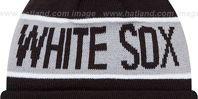 White Sox 'THE-COACH' Black Knit Beanie Hat by New Era