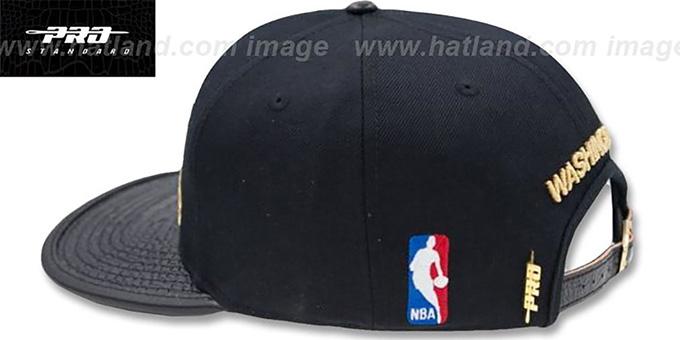 new concept 4a24b 8d866 ... Wizards  METALLIC POP STRAPBACK  Black Hat by Pro Standard ...