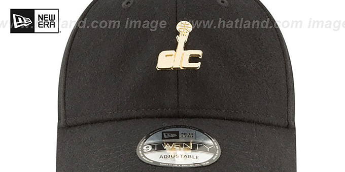 Wizards 'MINI GOLD METAL-BADGE STRAPBACK' Black Hat by New Era