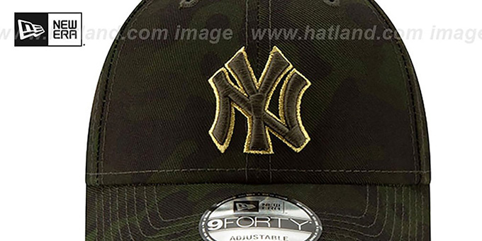 Yankees 2019 ARMED FORCES 'STARS N STRIPES STRAPBACK' Hat by New Era