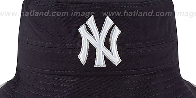 Yankees 'BASIC-ACTION' Navy Bucket Hat by New Era