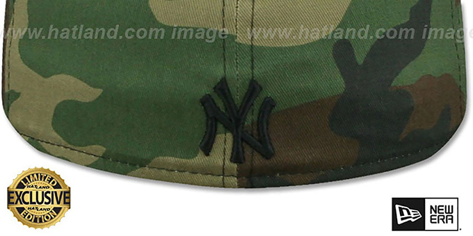 Yankees 'BRONX BOMBERS' Army Camo Fitted Hat by New Era