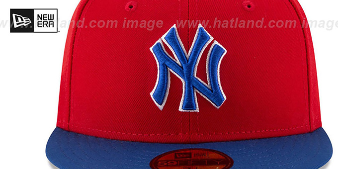 Yankees 'COUNTRY COLORS' Red-Royal Fitted Hat by New Era