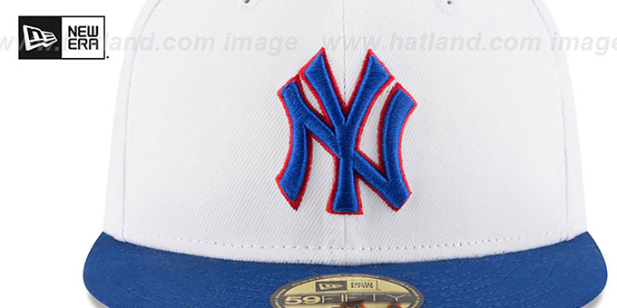Yankees 'COUNTRY COLORS' White-Royal Fitted Hat by New Era