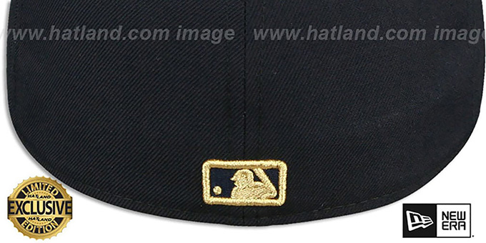 Yankees 'GOLD METAL-BADGE' Navy Fitted Hat by New Era