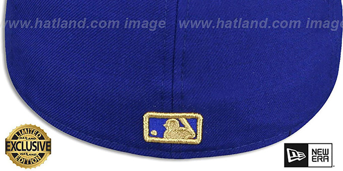 f7716cd8d75 ... Yankees  GOLD METAL-BADGE  Royal Fitted Hat by New Era ...