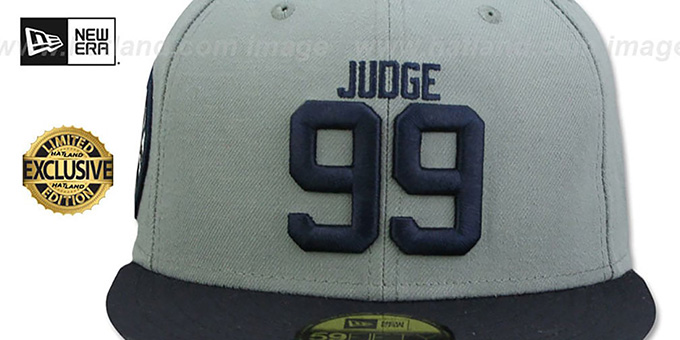 Yankees 'JUDGE ALL RISE SIDE' Grey-Navy Fitted Hat by New Era