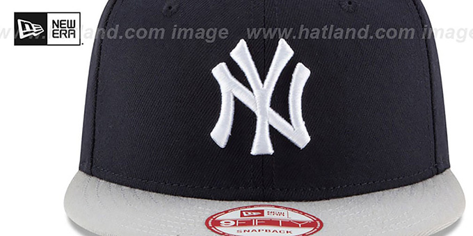 Yankees 'MLB STAR-TRIM SNAPBACK' Navy-Grey Hat by New Era