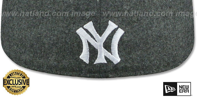 Yankees 'MURDERERS ROW' Melton Grey Fitted Hat by New Era