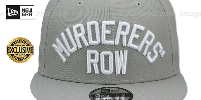 2316ed30 ... Yankees 'MURDERERS ROW SNAPBACK' Light Grey Hat by New Era ...