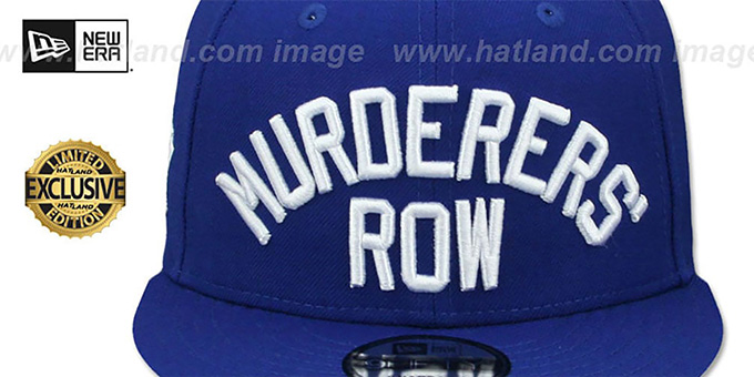 Yankees 'MURDERERS ROW SNAPBACK' Royal Hat by New Era