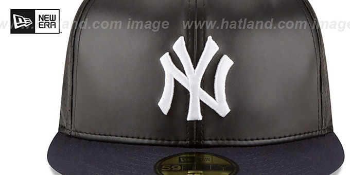 Yankees 'PERFECTLY STATED'  Black-Navy Fitted Hat by New Era