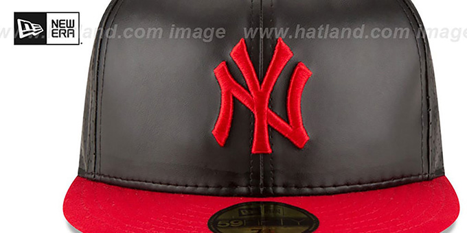 Yankees 'PERFECTLY STATED'  Black-Red Fitted Hat by New Era