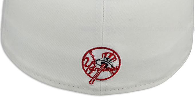 Yankees 'PROFILIN' White-Navy Fitted Hat by New Era