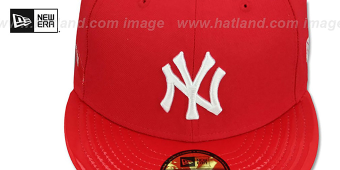 Yankees 'SCARLET HOOK' Red Fitted Hat by New Era